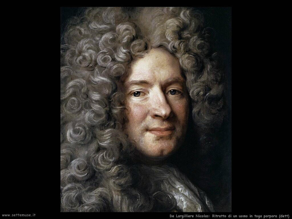 de largilliere nicolas  Ritratto di un uomo in toga porpora (dett)