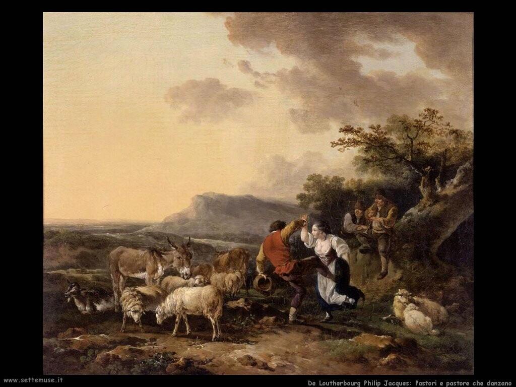 de loutherbourg philip jacques Pastore e pastorella che danzano