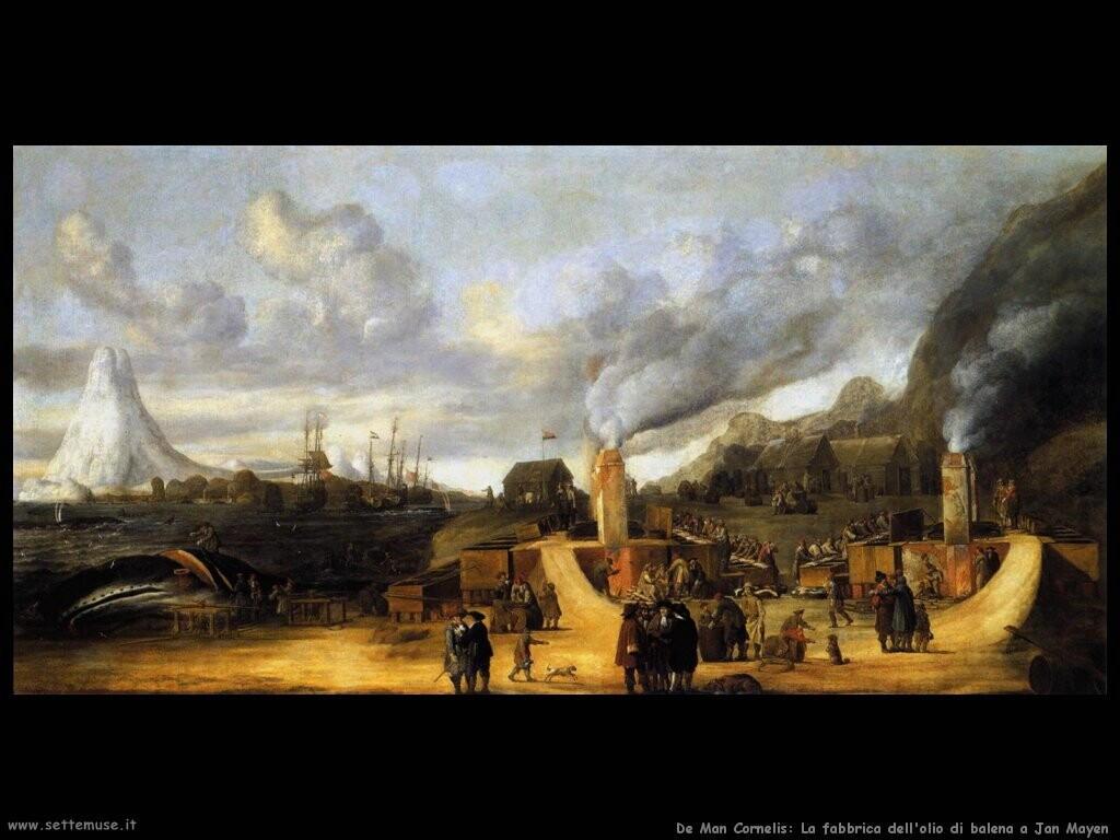 de man cornelis  Fabbrica dell'olio di balena a Jan Mayen