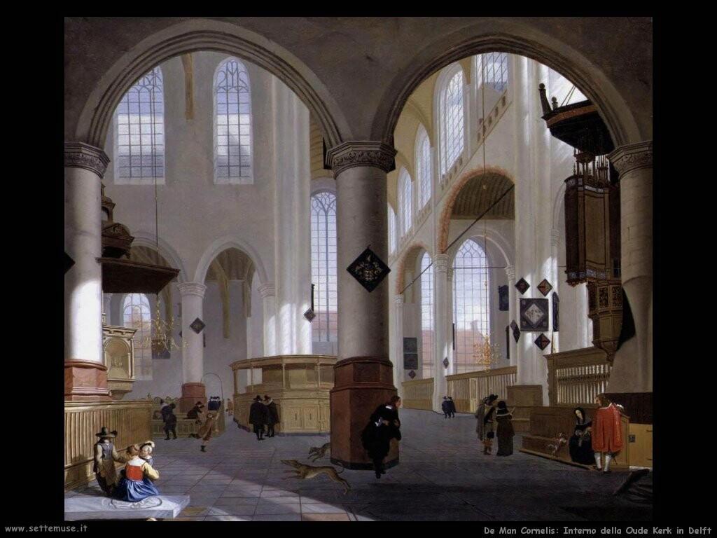 de man cornelis Interno della Oude kerk in Delf