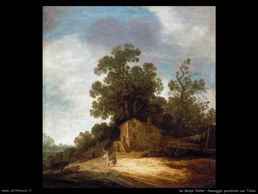 de molyn pieter Paesaggio pastorale con Tobia