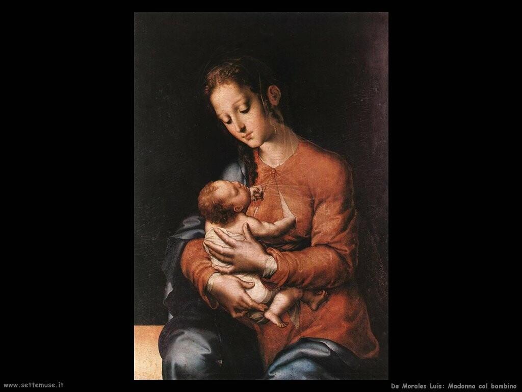 de morales luis Madonna con il bambino