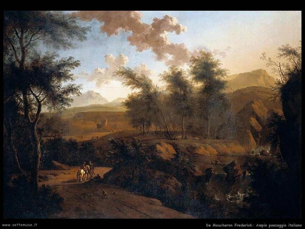 de moucheron frederick Ampio paesaggio italiano