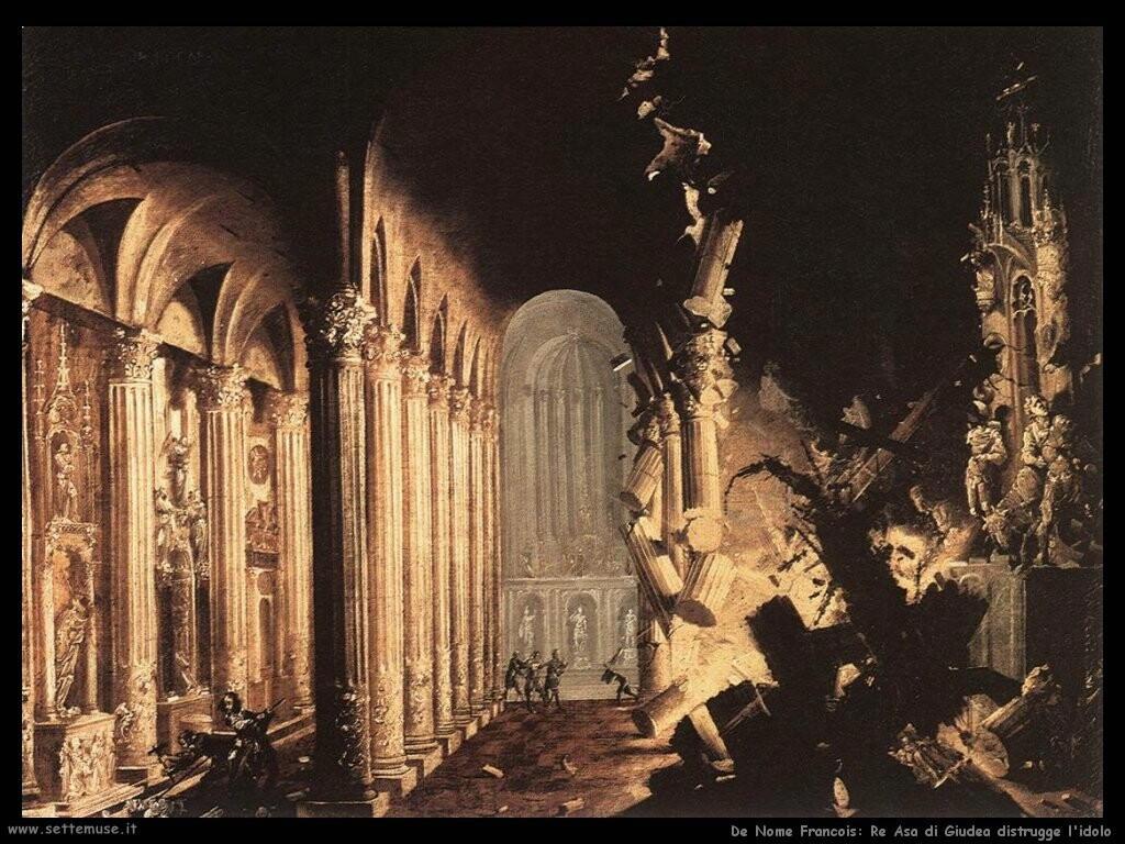 de nome francois Re Asa di Giudea distrugge l'idolo