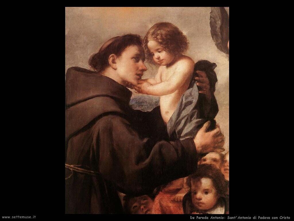 de pereda antonio Sant'Antonio di Padova con Cristo (dett)