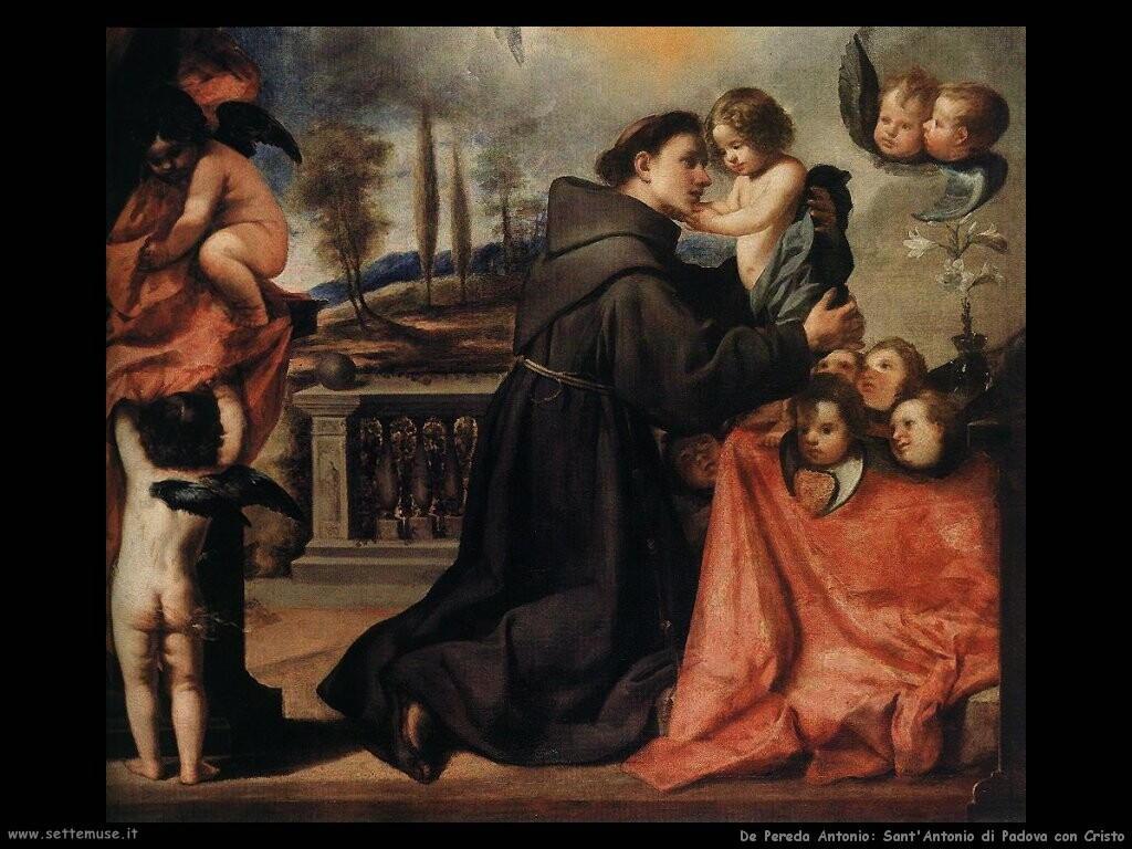 de pereda antonio  Sant'Antonio di Padova con Cristo