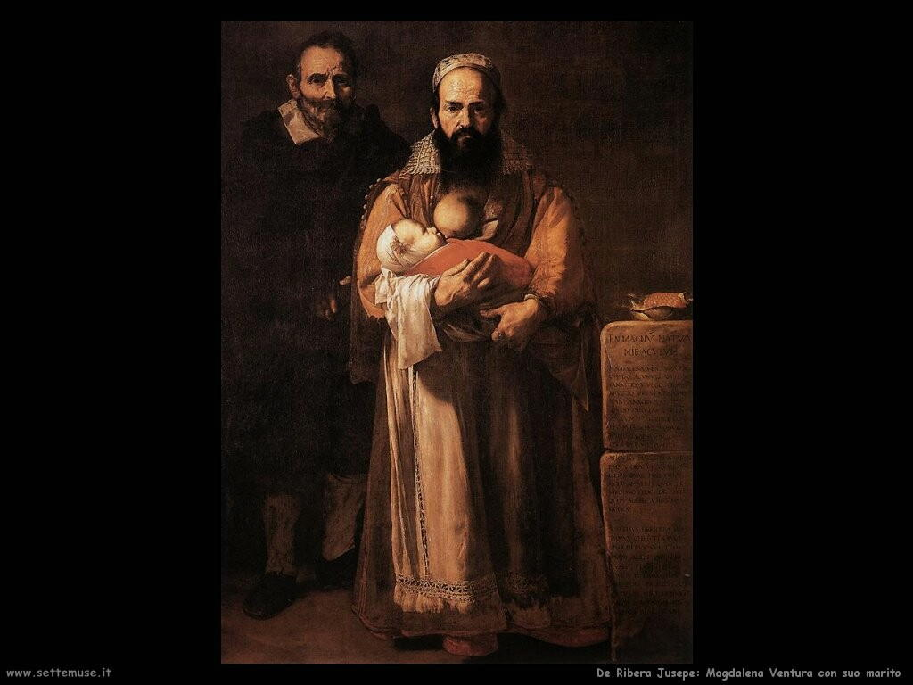 de ribera jusepe Maddalena Ventura col marito