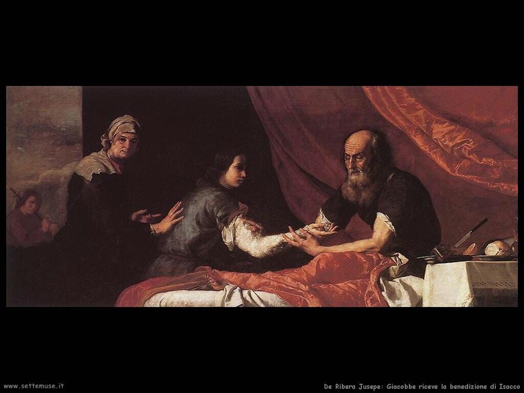 de ribera jusepe Giacomo riceve la benedizione di Isaia