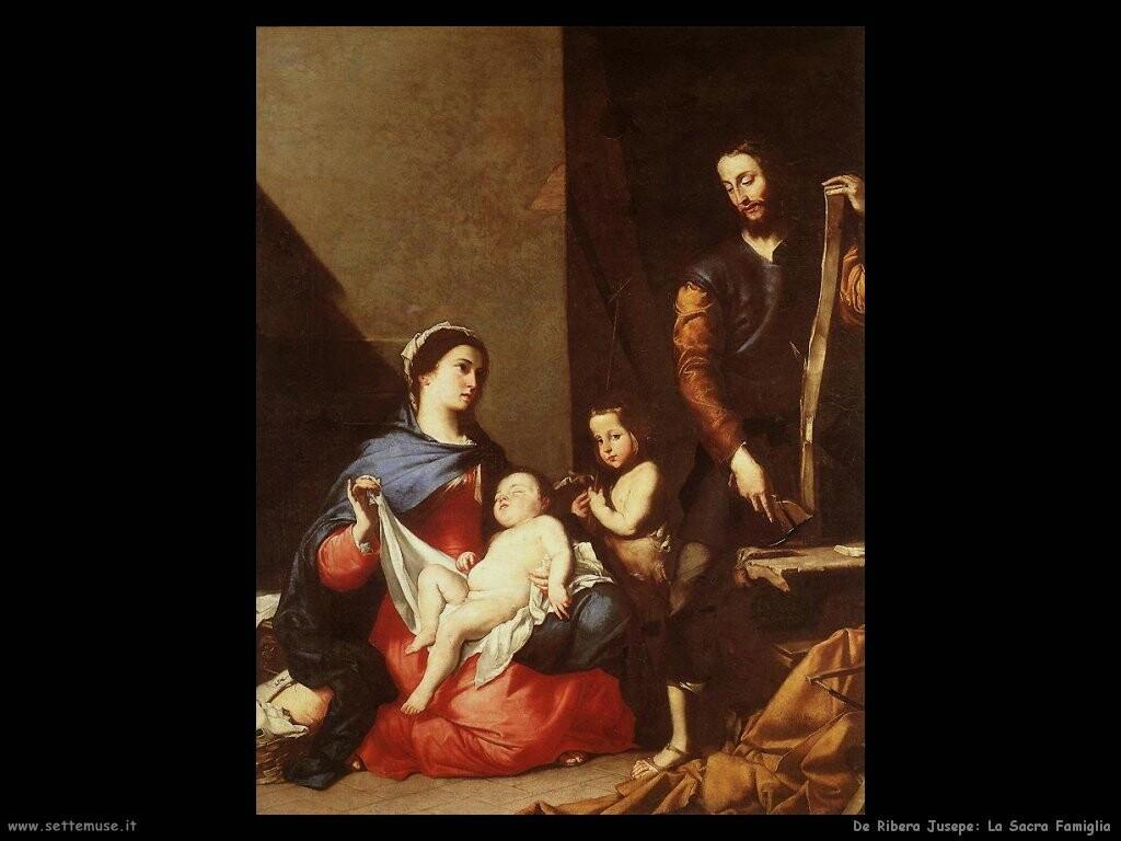 de ribera jusepe  Sacra famiglia