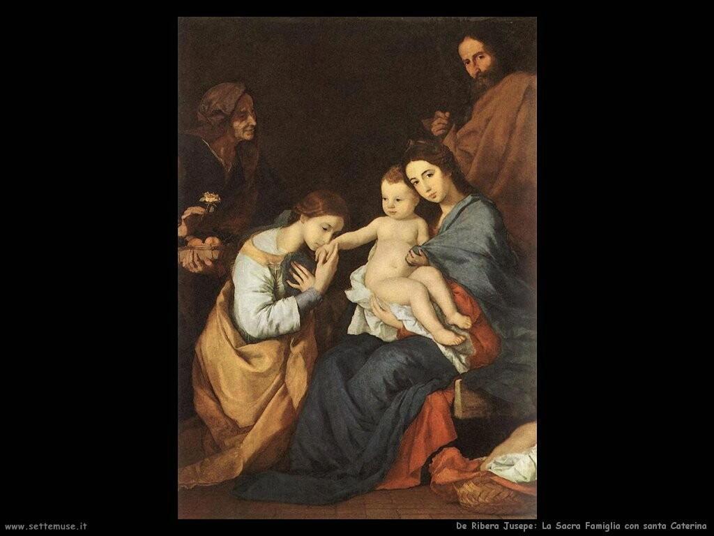 de ribera jusepe Sacra famiglia con santa Caterina