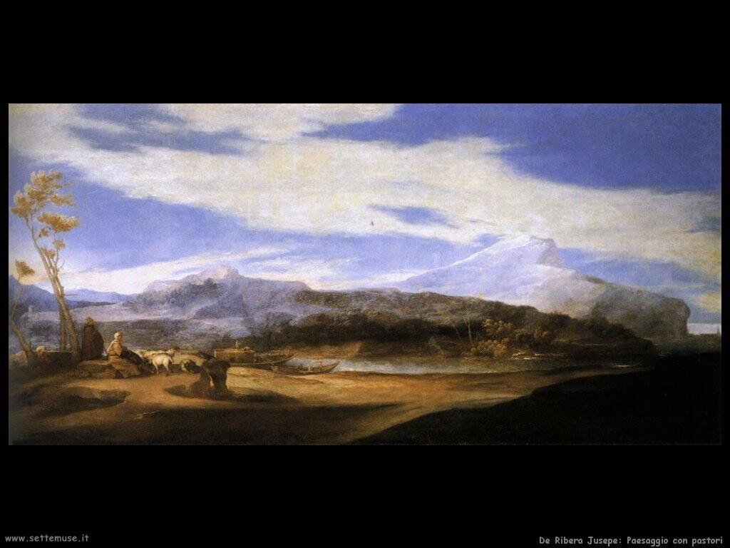de ribera jusepe Paesaggio con pastori
