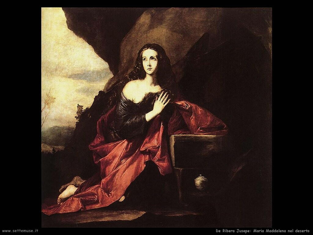 de ribera jusepe Maria Maddalena nel deserto