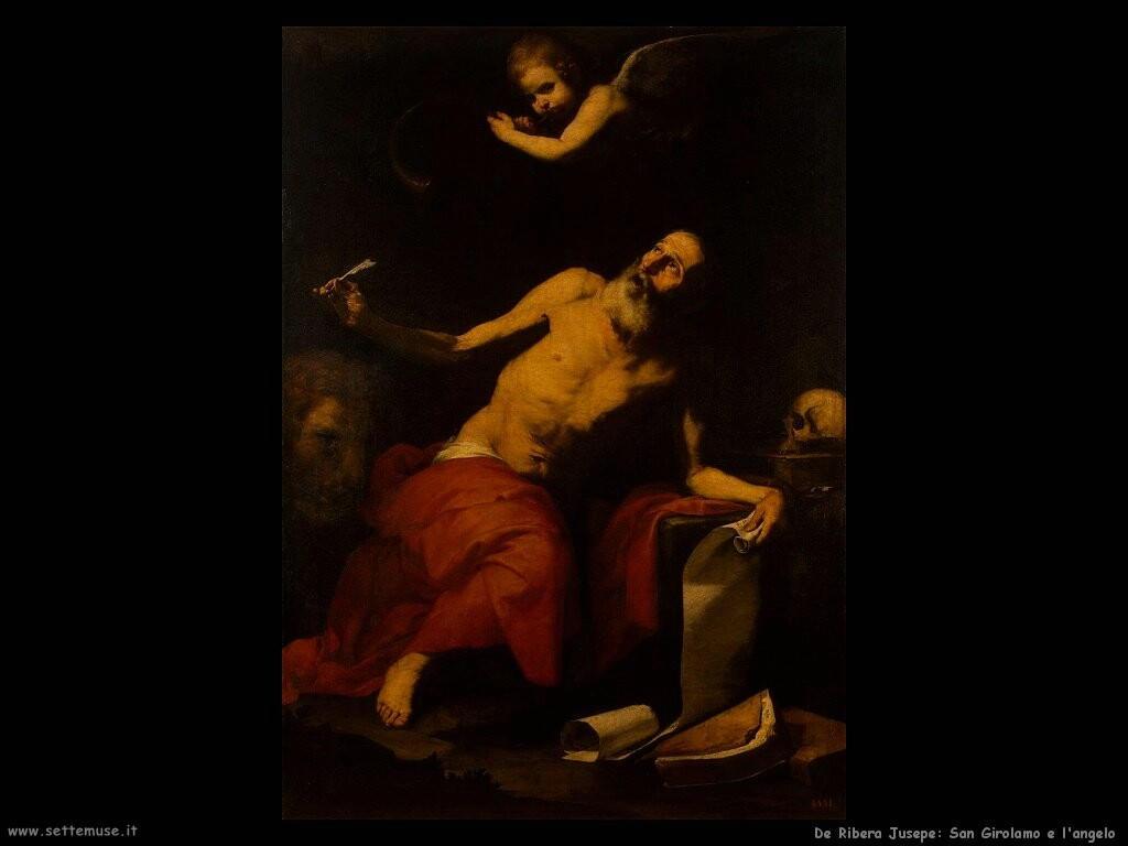de ribera jusepe San Girolamo e l'angelo