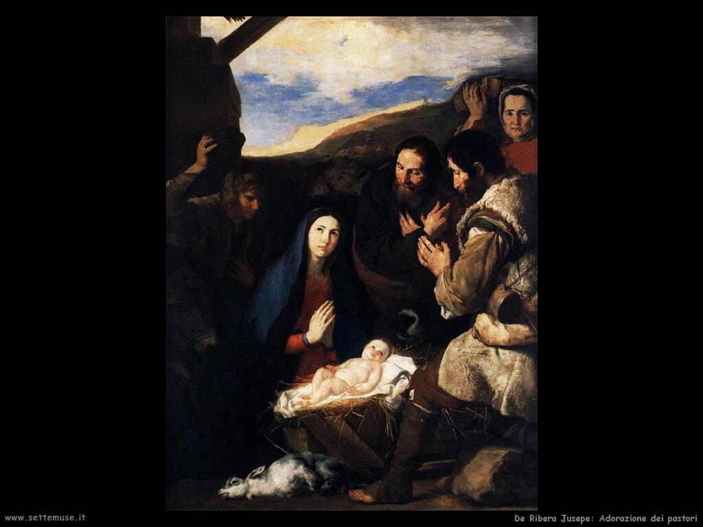 de ribera jusepe Adorazione dei pastori
