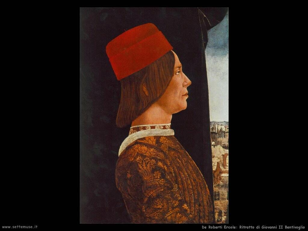de roberti ercole  Ritratto di Giovanni II Bentivoglio