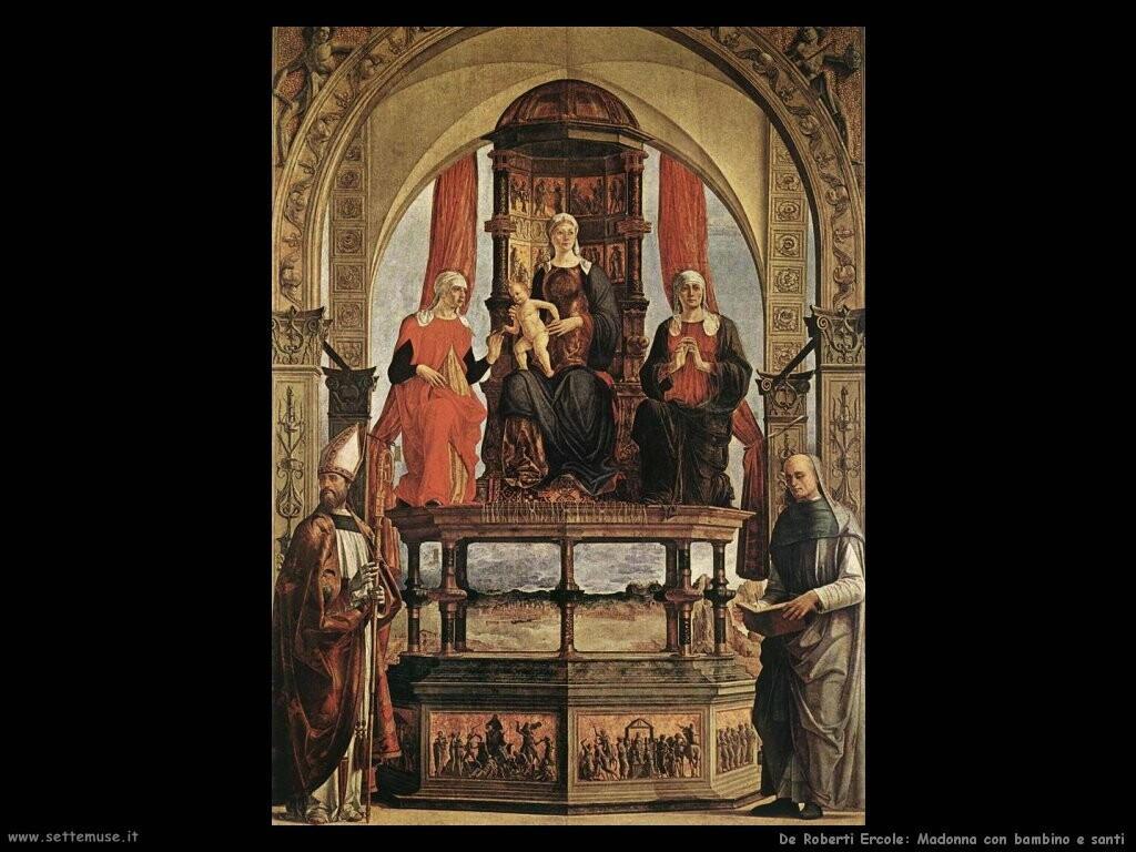 de roberti ercole Madonna con bambino e santi