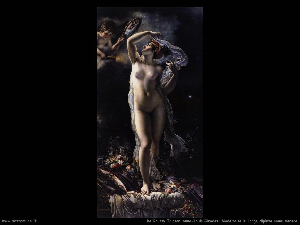 de roucy trioson anne louis girodet  ademoiselle Langè come Venere