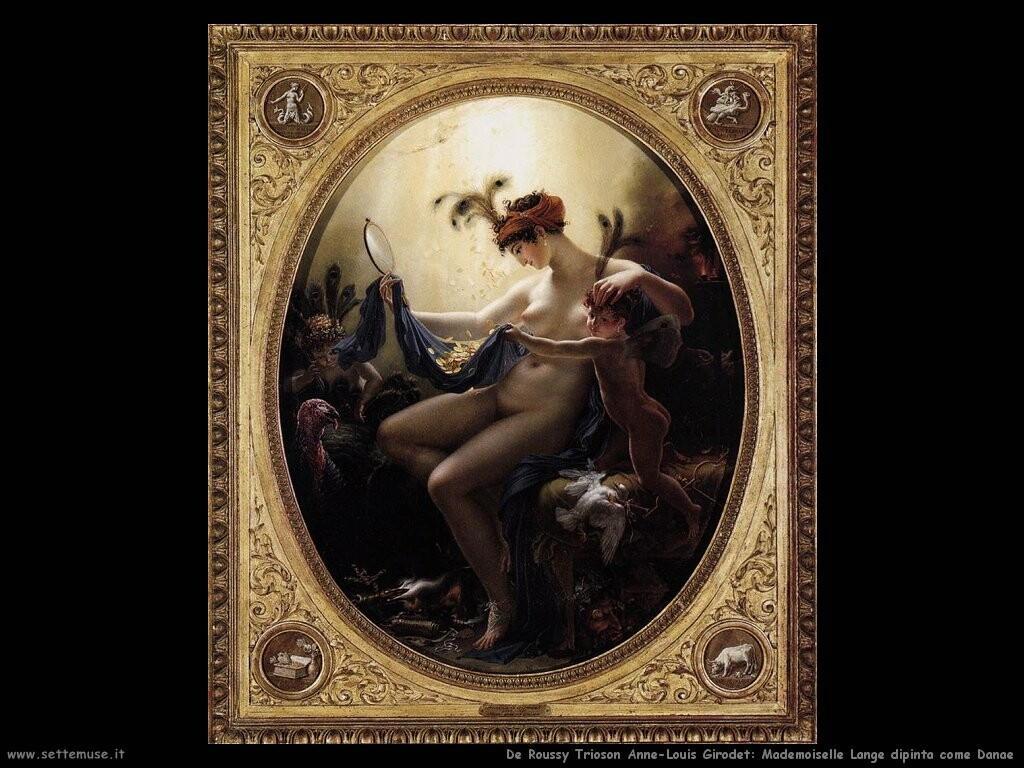 de roucy trioson anne louis girodet Mademoiselle Langè come Diana
