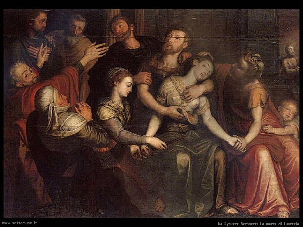 de ryckere bernaert  La morte di Lucrezia