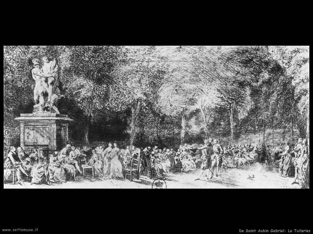 de saint aubin gabriel  Tuileries
