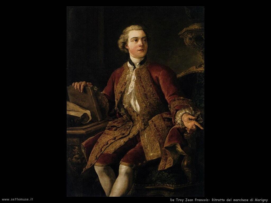 de troy jean francois Ritratto del marchese di Marigny