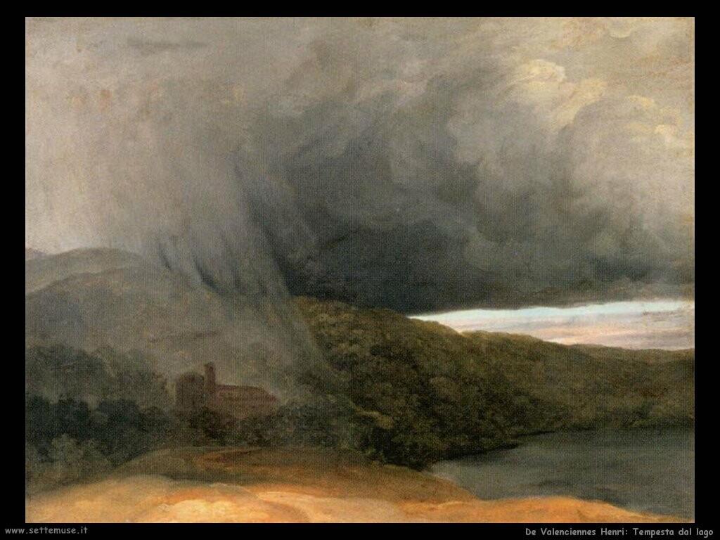 de valenciennes pierre henri  Tempesta sul lago