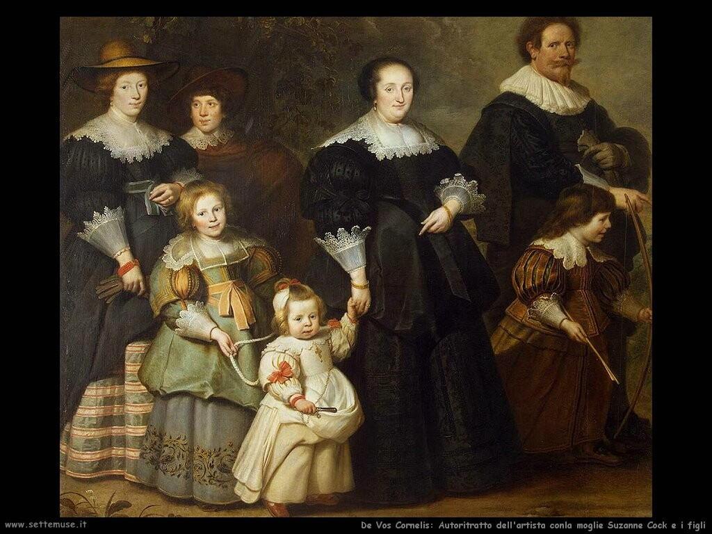 de vos cornelis  Autoritratto dell'artista con la moglie Suzanne Cock e figli