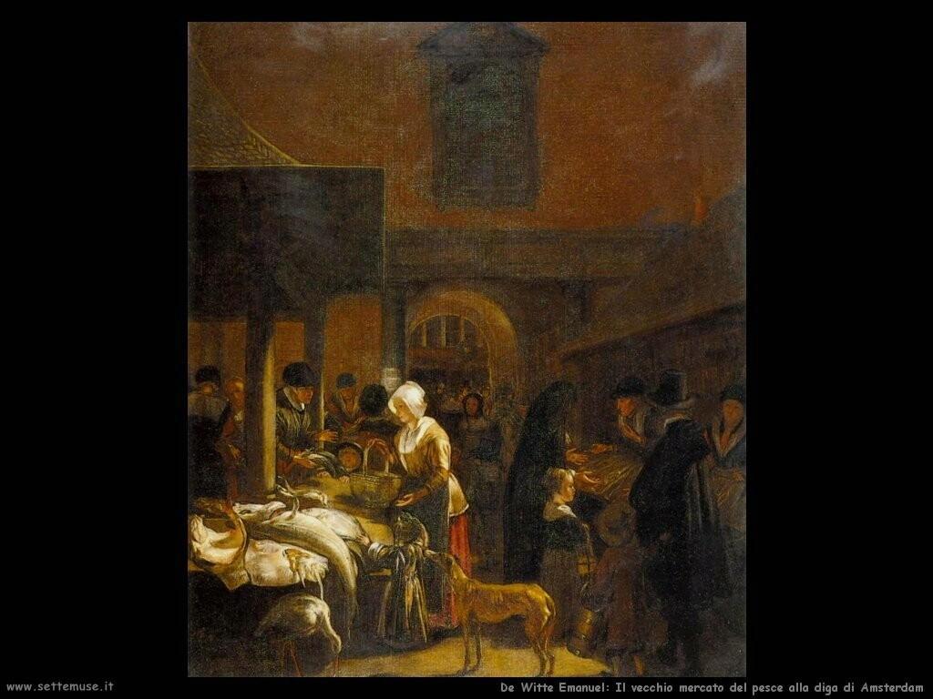 de witte emanuel Il vecchio mercato del pesce alla diga di Amsterdam