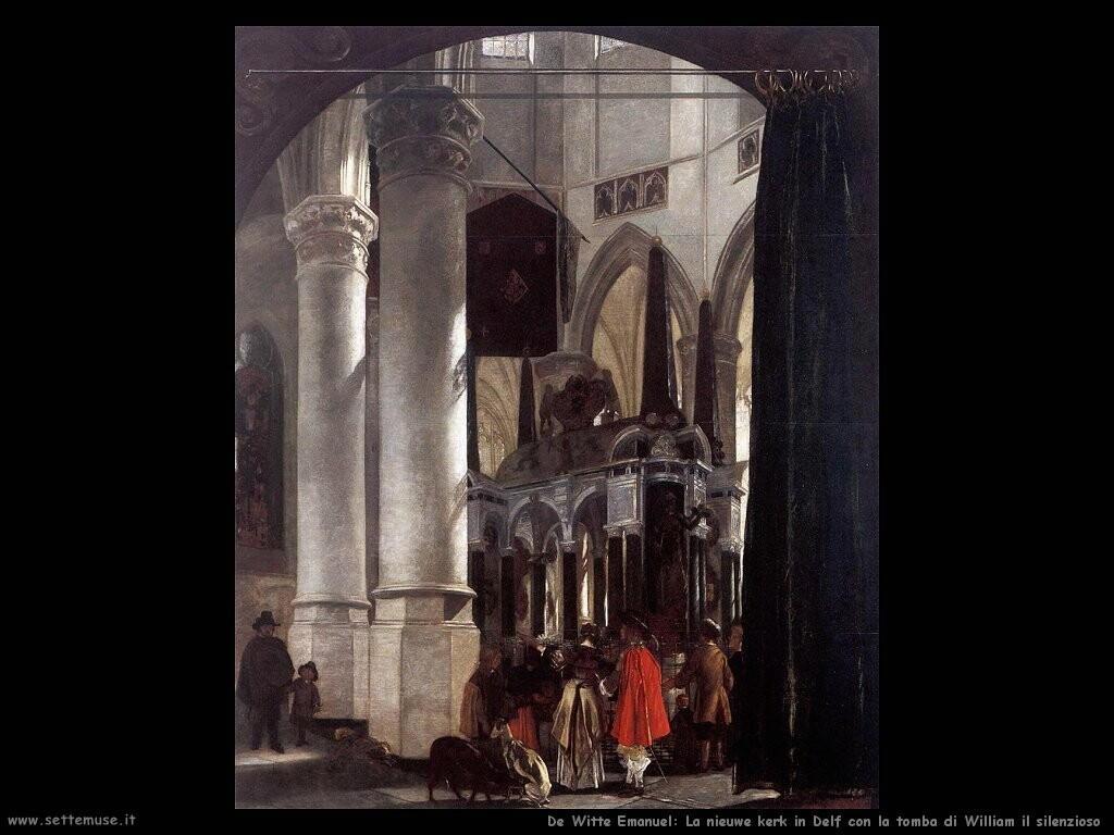 de witte emanuel  Nuova chiesa in Delft con tomba di William il silenzioso