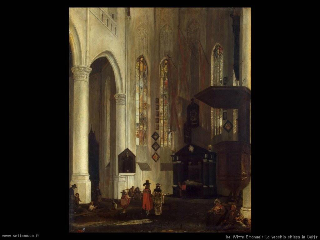 de witte emanuel  Vecchia chiesa in Delft