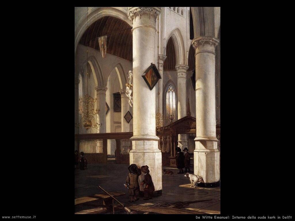 de witte emanuel  Interno della oude kerk di Delft