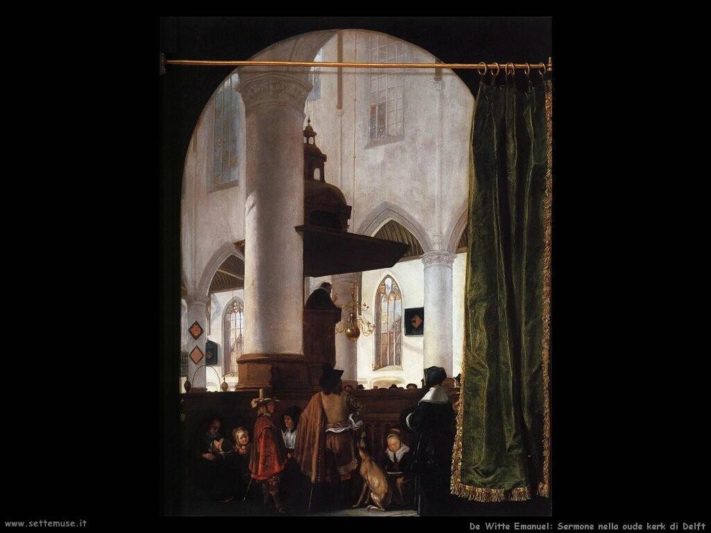 de witte emanuel Un sermone nella oude kerk di Delft