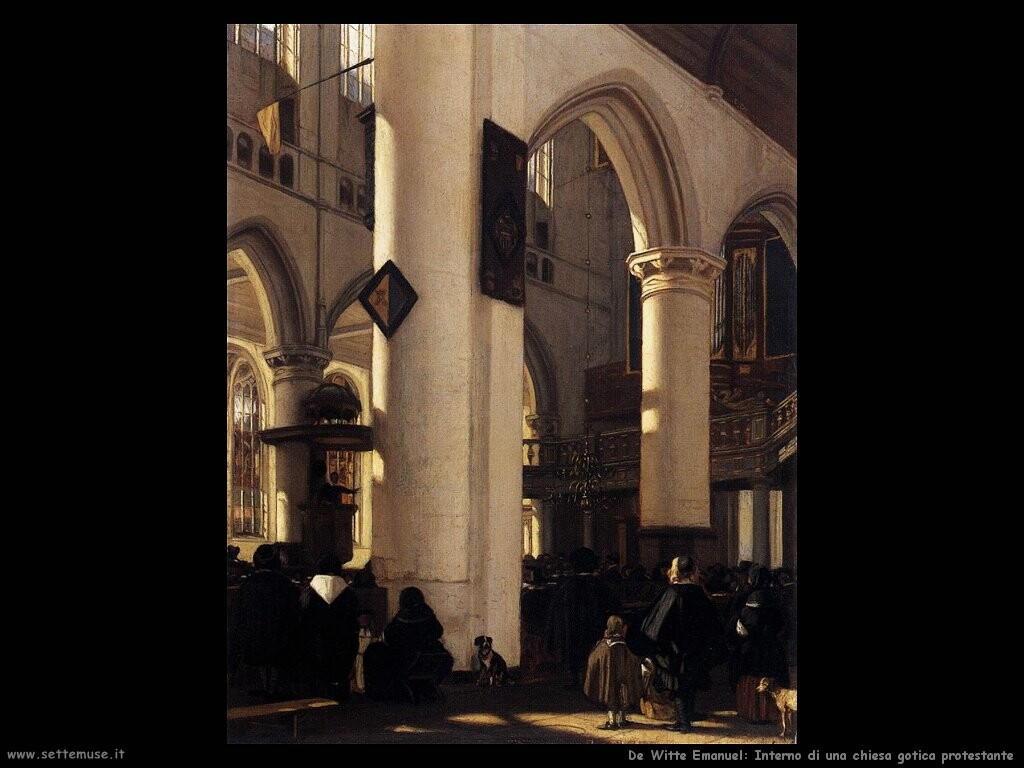 de witte emanuel Interno di chiesa gotica protestante