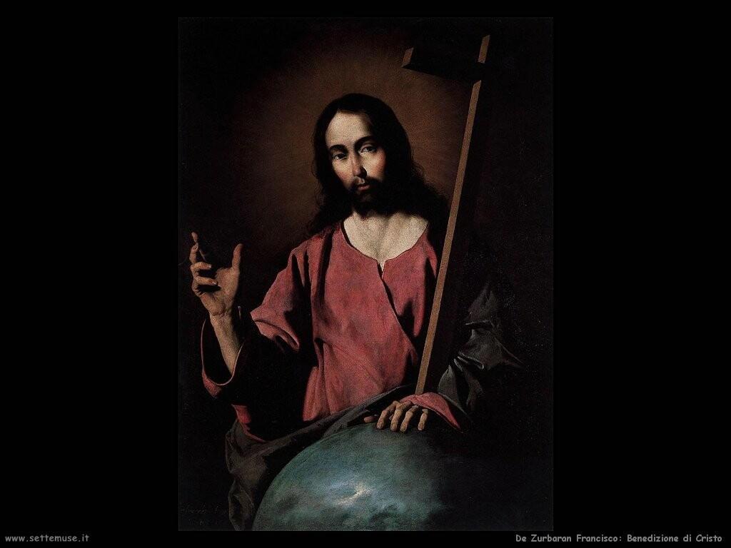 de zurbaran francisco  Benedizione di Cristo