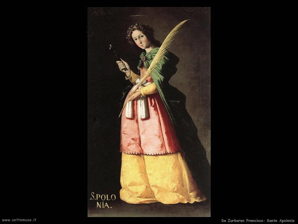 de zurbaran francisco Santa Apollonia
