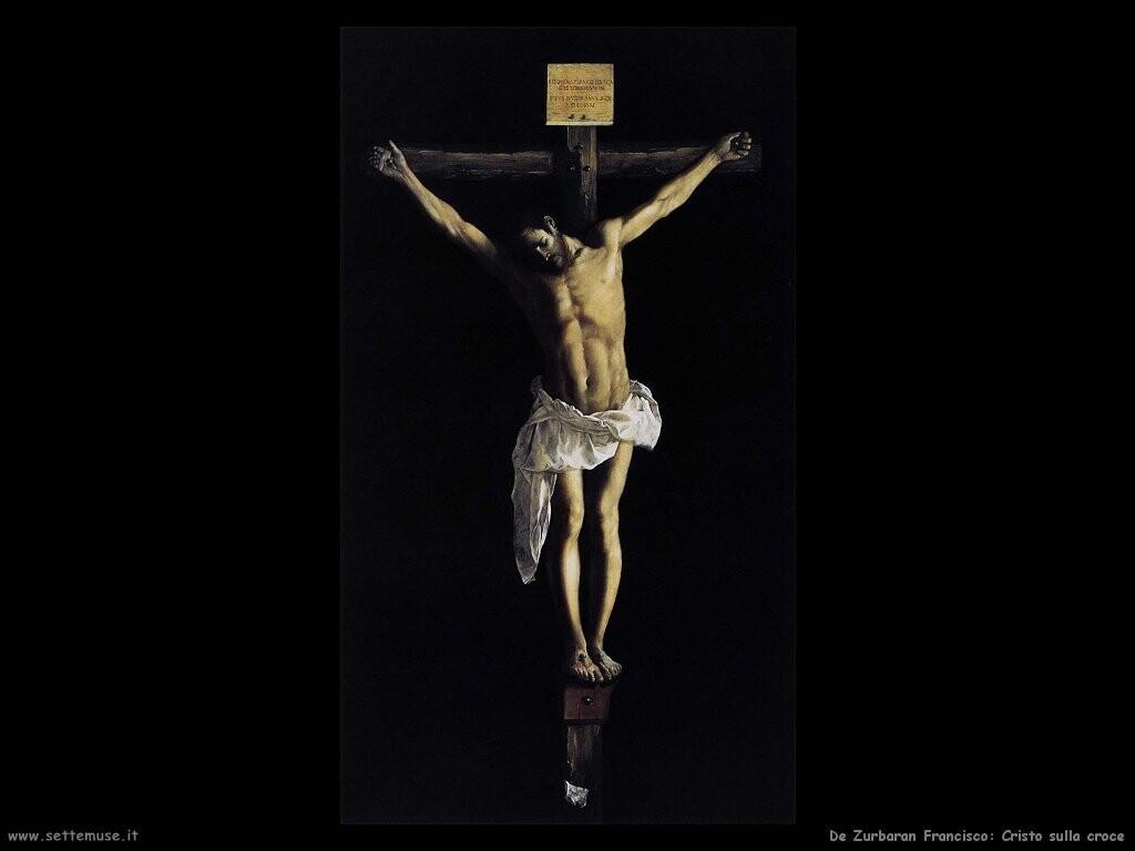 de zurbaran francisco Cristo sulla croce