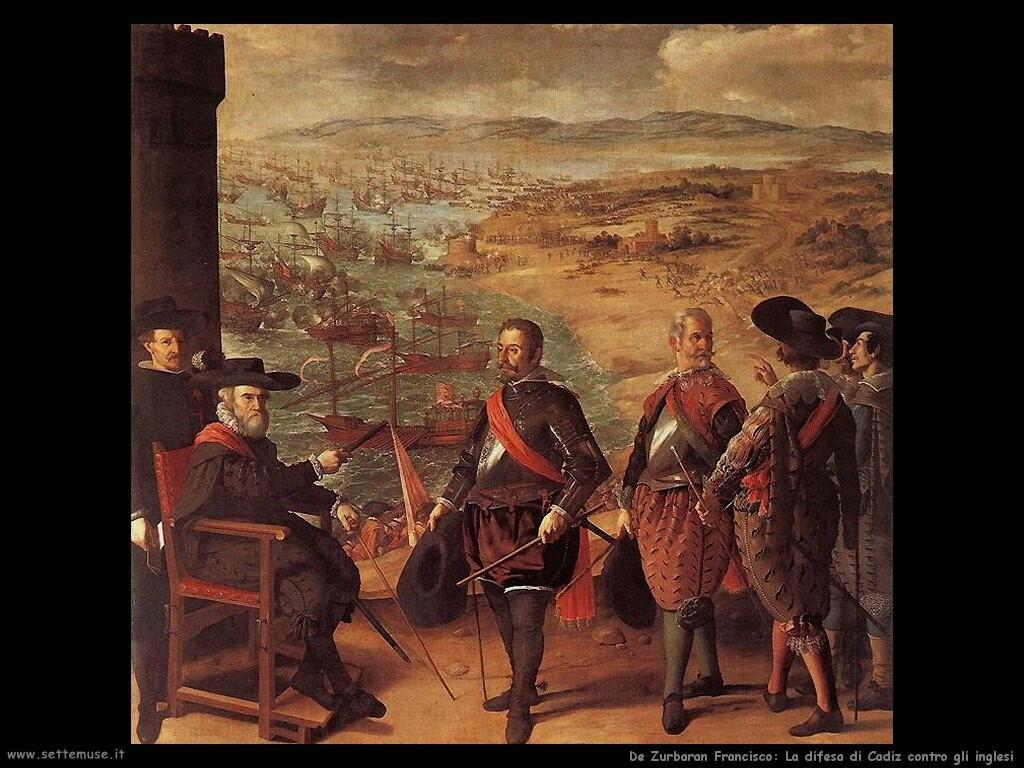 de zurbaran francisco   Difesa di Cadiz contro gli inglesi