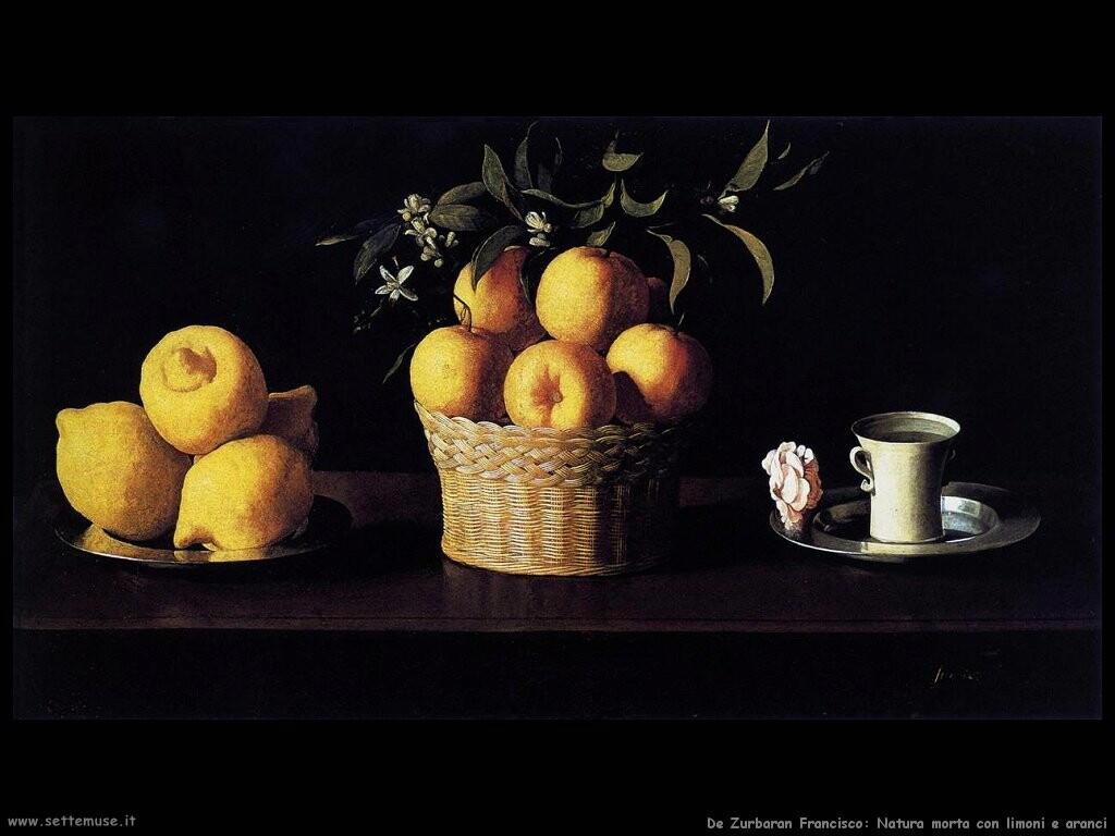 de zurbaran francisco  Natura morta con limoni e aranci