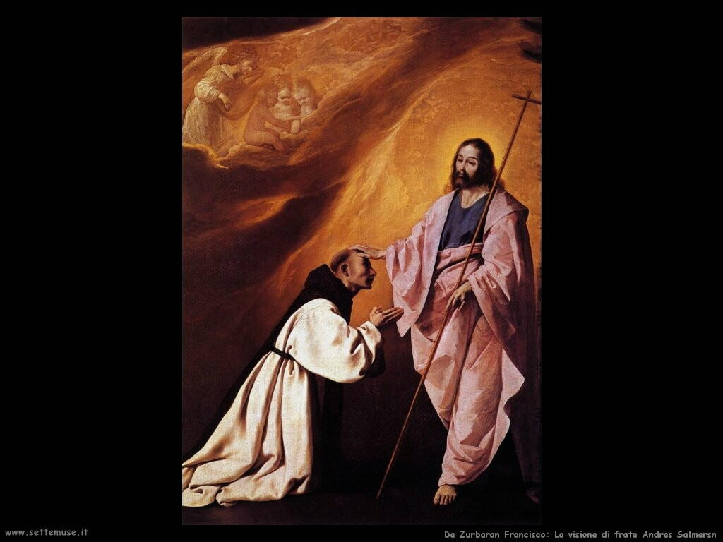 de zurbaran francisco Visione di frate Andres Salmersn