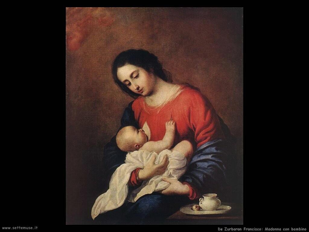 de zurbaran francisco Madonna e bambino