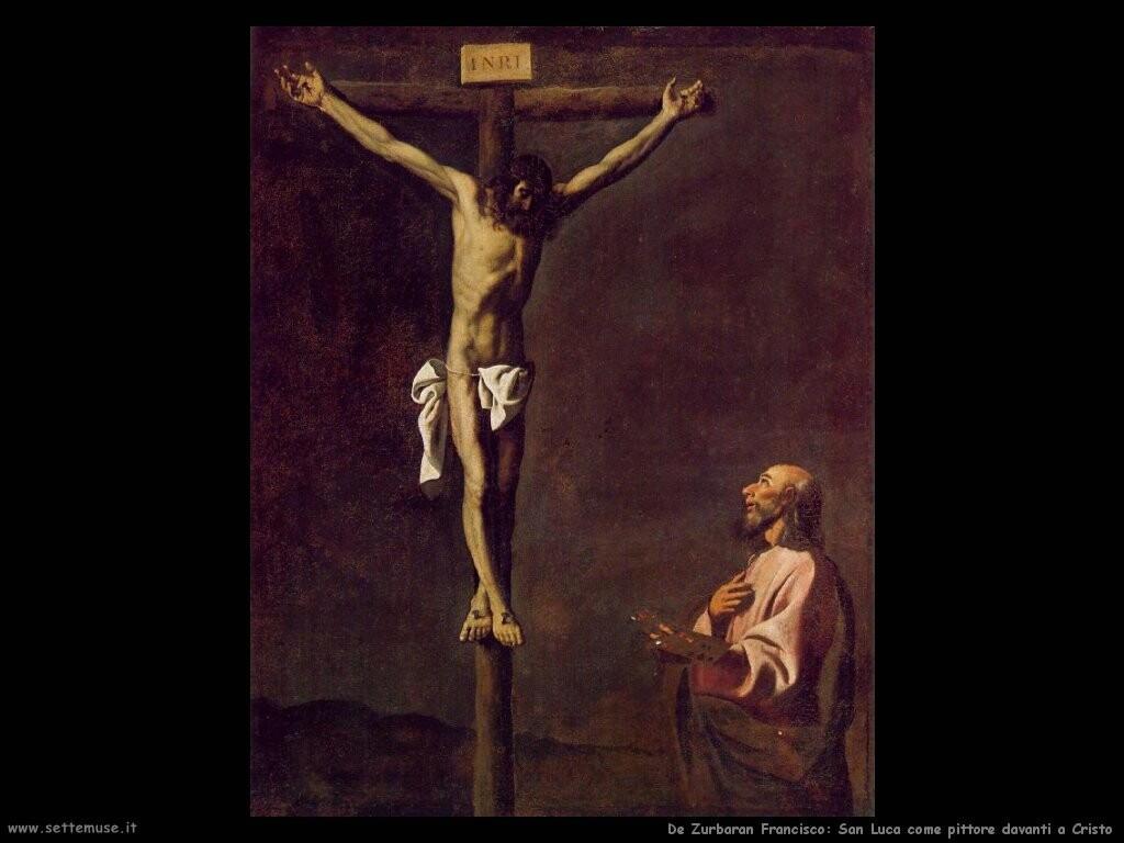de zurbaran francisco San Luca come pittore davanti a Cristo