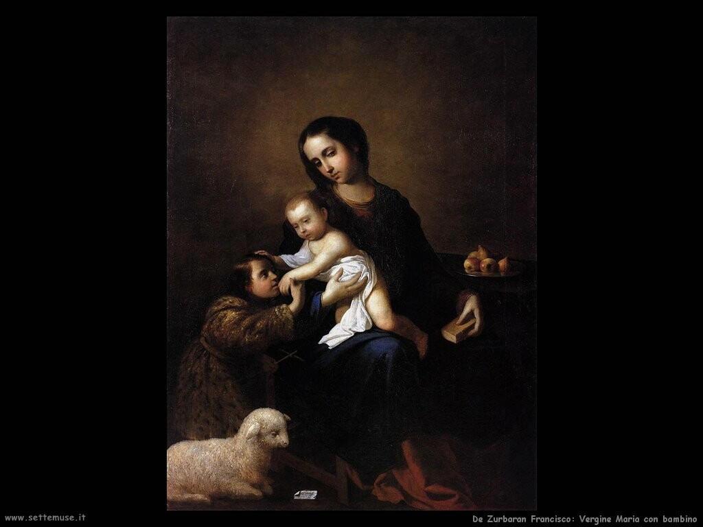 de zurbaran francisco  Vergine Maria con bambino