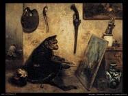 decamps alexandre gabriel  La scimmia pittrice