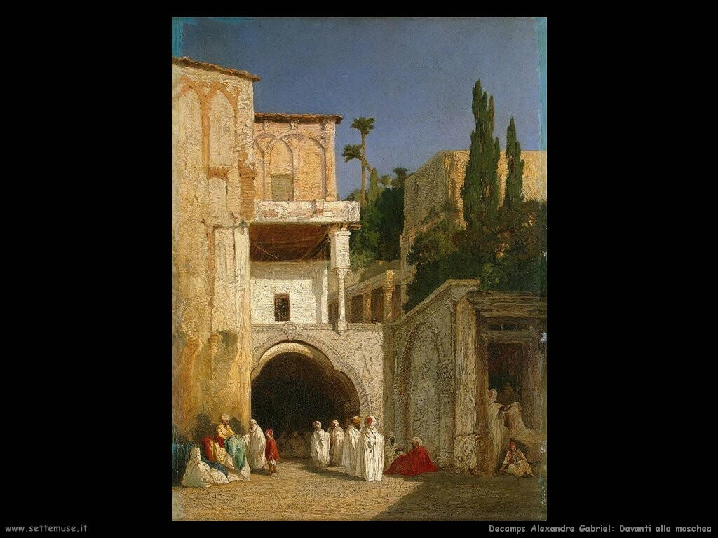 decamps alexandre gabriel Davanti a una moschea