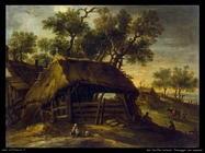 del castillo antonio Paesaggio con cacciatori