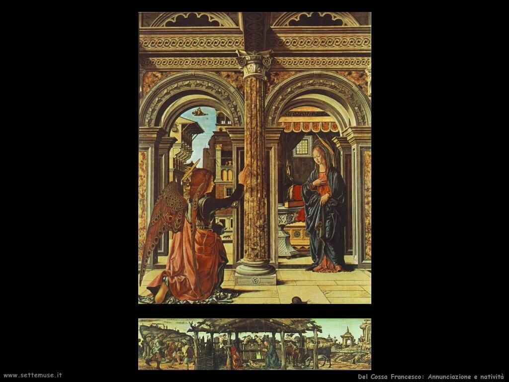 del cossa francesco Annunciazione e natività