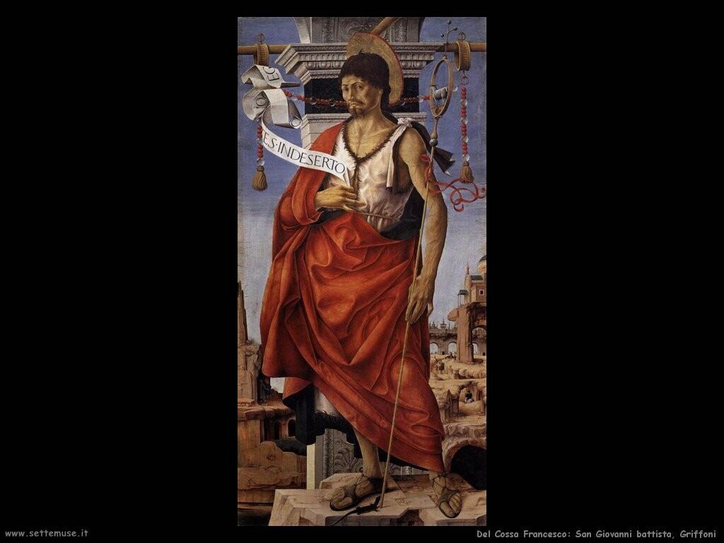 del cossa francesco   San Giovanni battista Politico Greco