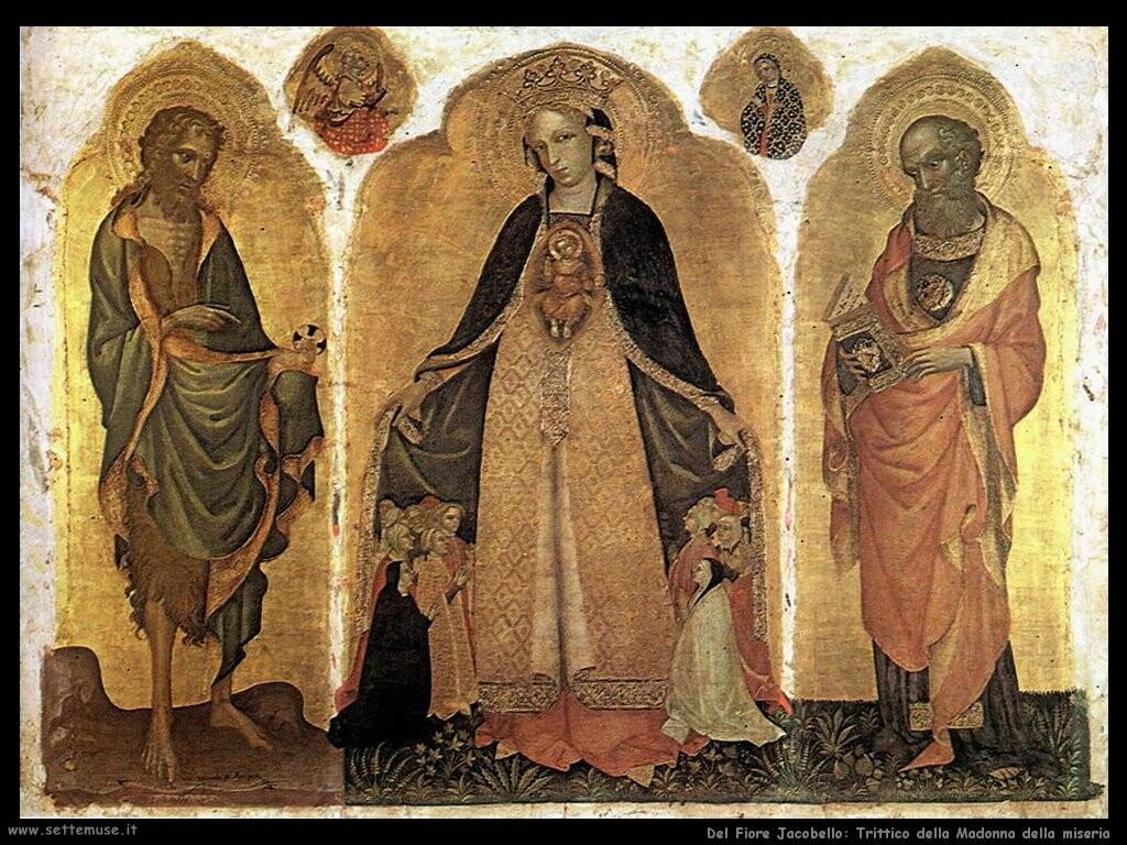 del fiore jacobello Trittico della Madonna della miseria