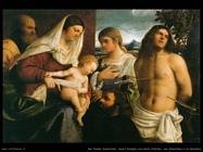 del piombo sebastiano Sacra famiglia con s. Caterina, s. Sebastiano e un donatore