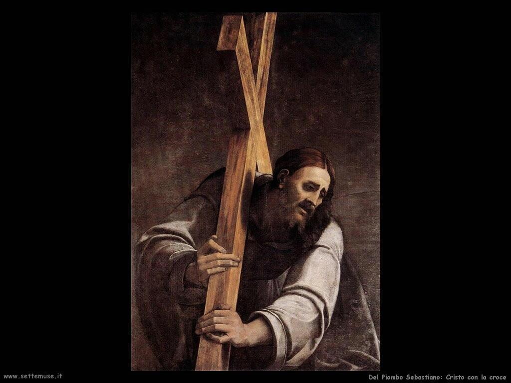 del piombo sebastiano Cristo con la croce